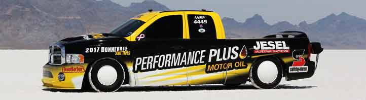 Performance Plus Motor Oil Helps Jesel Racing Set Land Speed Records